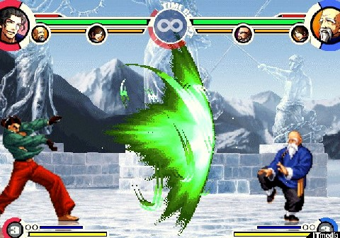 Console-exclusive hidden characters Robert Garcia and Tung Fu Rue. Both retain their moves from NeoGeo Battle Coliseum.